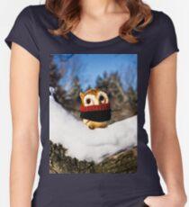 Harvey the Owl IV Women's Fitted Scoop T-Shirt