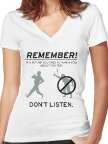 Remember! Women's Fitted V-Neck T-Shirt