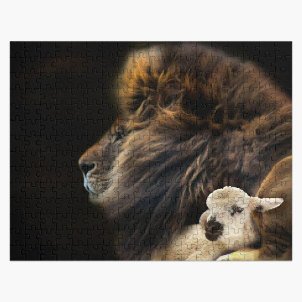 and the lion shall lie down with the lamb Jigsaw Puzzle