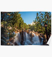 Waterfall at Grizzly River Rapids Poster