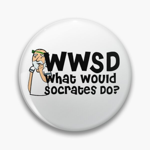 WWSD-What Would Socrates Do? Pin
