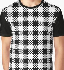 Black and white gingham pattern Graphic T-Shirt
