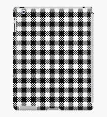 Black and white gingham pattern iPad Case/Skin