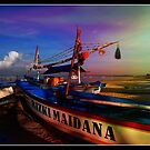 Waiting For The Catch Jimbaran Bay Bali  by Ronald Rockman