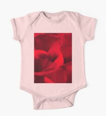 Satin-red rose petals One Piece - Short Sleeve