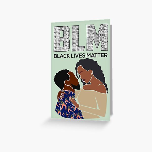 Blm couple card Greeting Card