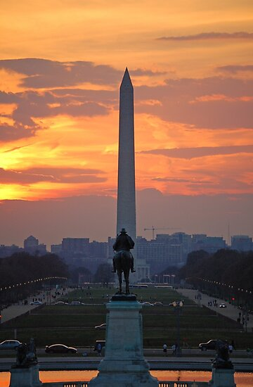 D.C. City Sunset by Samiaza