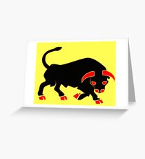 "11th Armoured Division ""The Black Bull"" (United Kingdom - Historical) Greeting Card"