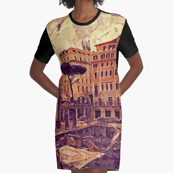Campus Martius Julius Caesar Ancient Rome Italy Architecture Graphic T-Shirt Dress