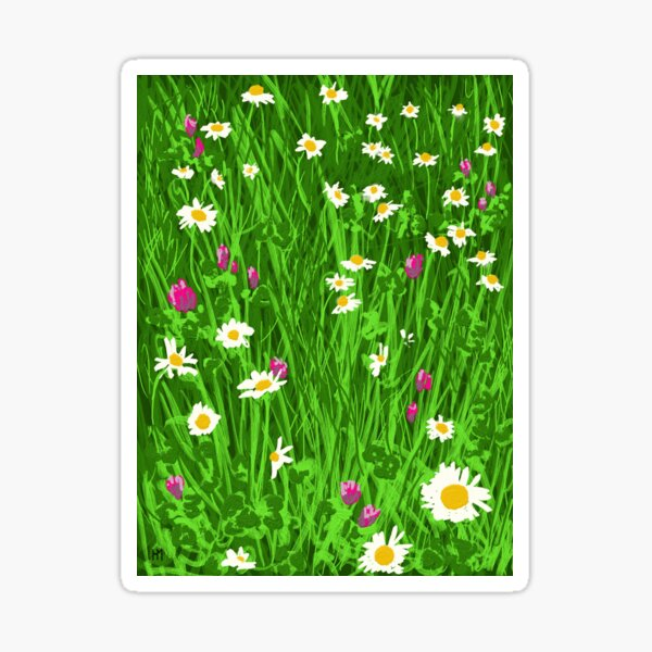 Daisies and Clover Sticker