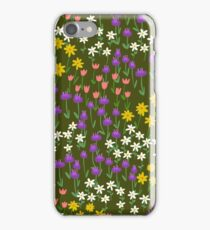 Green Field of Flowers iPhone Case/Skin