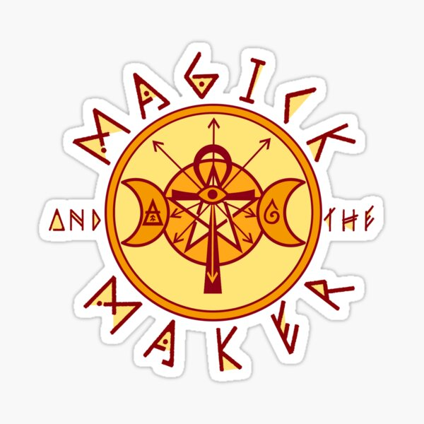 The Magick and the Maker Sigil Sticker