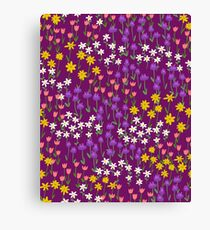 Violet Field of Flowers Canvas Print