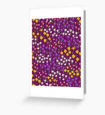 Violet Field of Flowers Greeting Card