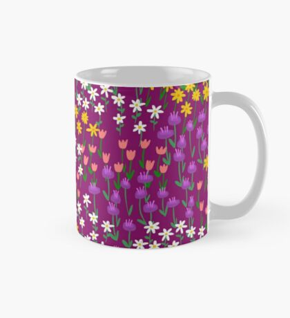 Violet Field of Flowers Mug