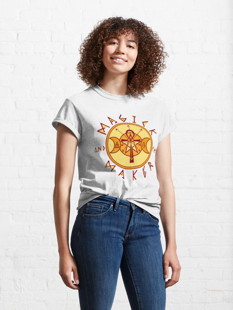 Alternate view of The Magick and the Maker Sigil Classic T-Shirt