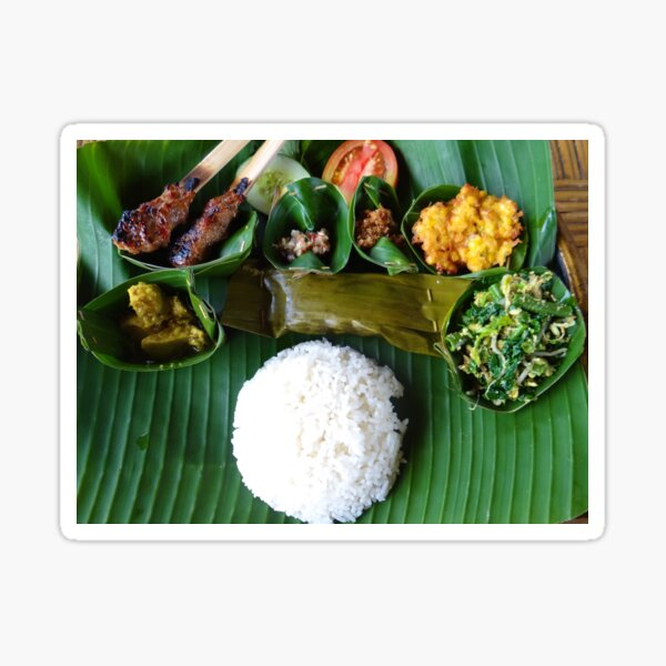 Balinese traditional lunch Sticker