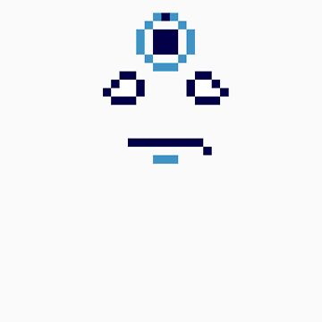 Dr. Manhattan Face Pixels by andersonOllie
