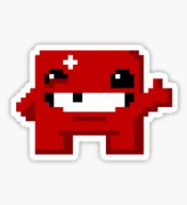 Super Meat Boy Pixels Sticker