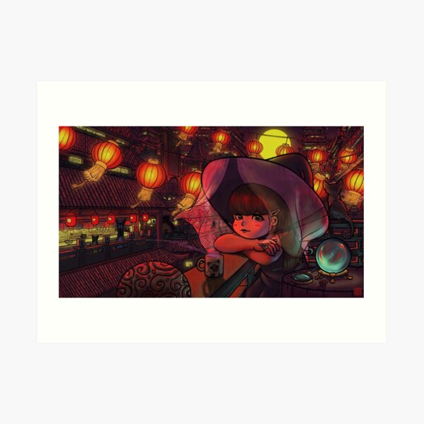 Magical Chinese Mystic Girl Art Print