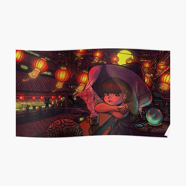Magical Chinese Mystic Girl Poster