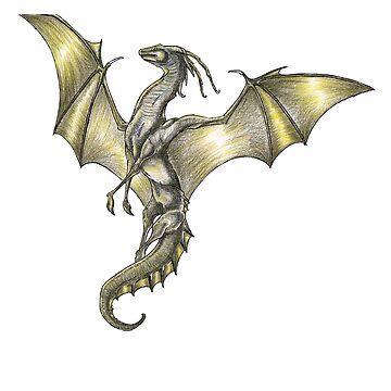Pencil Dragon by Anuviel