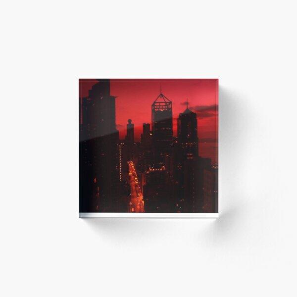 red in HK Acrylic Block