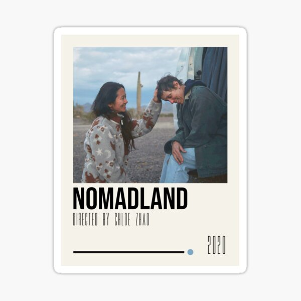 Nomadland Movie Poster Art Sticker