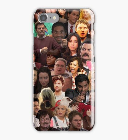 Parks and Recreation Collage iPhone Case/Skin