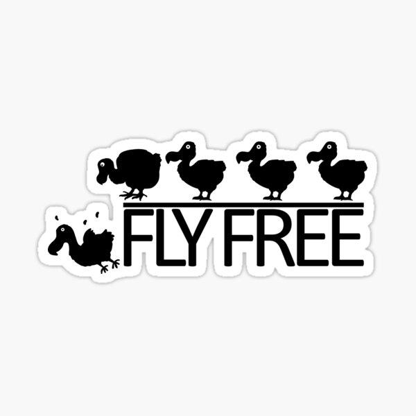 Fly Free Sticker