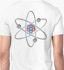 ATOM, ATOMIC, Lithium atom, model, SMALL, Physics, Neutrons, Protons, Electrons, Nuclear, Energy, Fission, Fusion, on WHITE  T-Shirt
