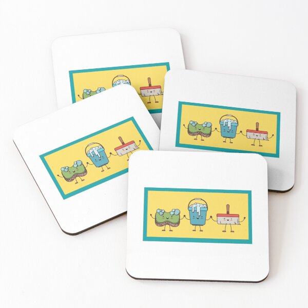 The Cleaning Squad Coasters (Set of 4)