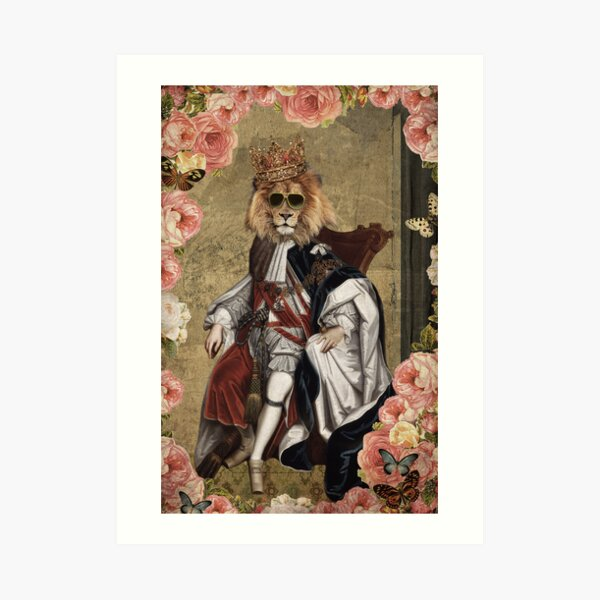 Animal Collection by Elo -- The King Art Print