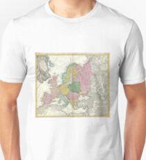 Vintage Map of Europe (1743) T-Shirt
