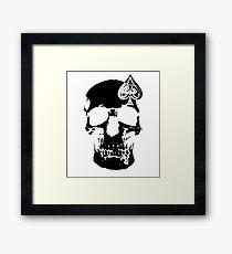 Poker Skull Framed Print