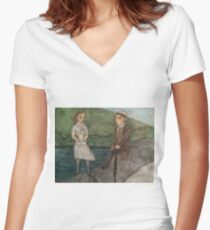 Curse of Fenric Women's Fitted V-Neck T-Shirt