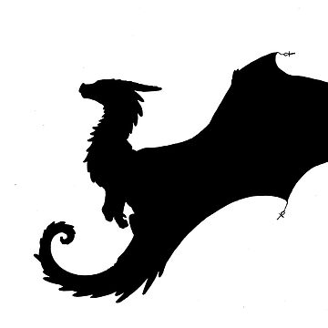 Little Dragon Silhouette  by Anuviel