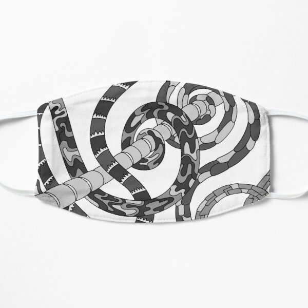Wandering Abstract Line Art 46: Grayscale Flat Mask