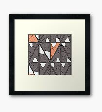 Triangle foxes. Why not. Framed Print