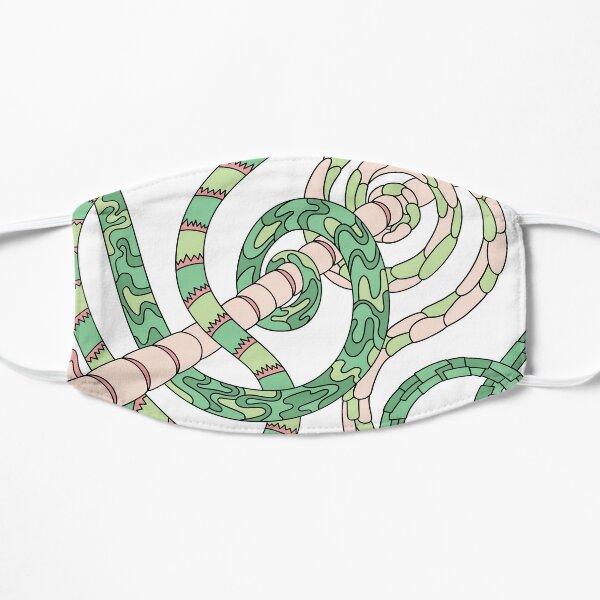 Wandering Abstract Line Art 46: Green Flat Mask