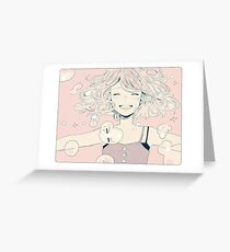 breathe bubbles. Greeting Card