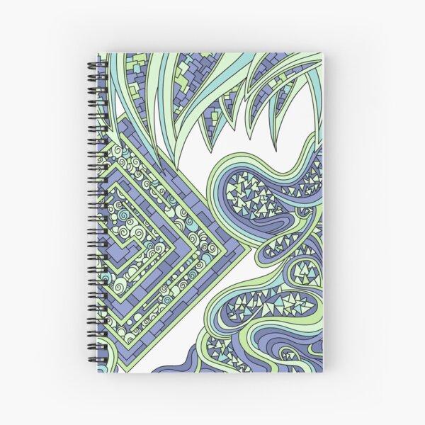 Wandering Abstract Line Art 47: Green Spiral Notebook