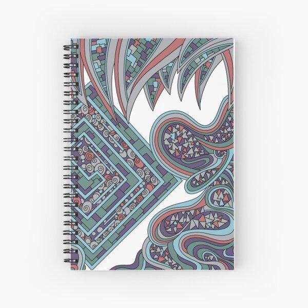 Wandering Abstract Line Art 47: Blue Spiral Notebook