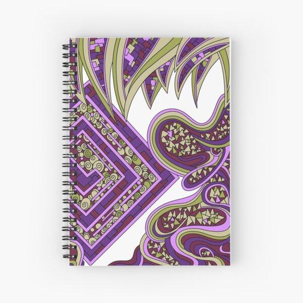 Wandering Abstract Line Art 47: Purple Spiral Notebook