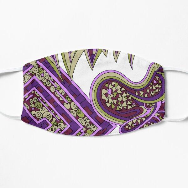 Wandering Abstract Line Art 47: Purple Flat Mask