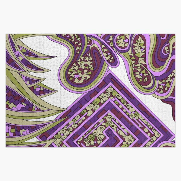 Wandering Abstract Line Art 47: Purple Jigsaw Puzzle