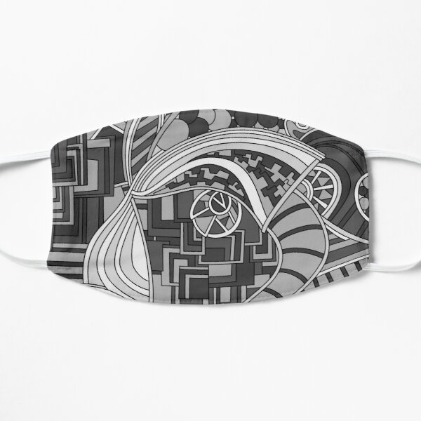 Wandering Abstract Line Art 48: Grayscale Flat Mask
