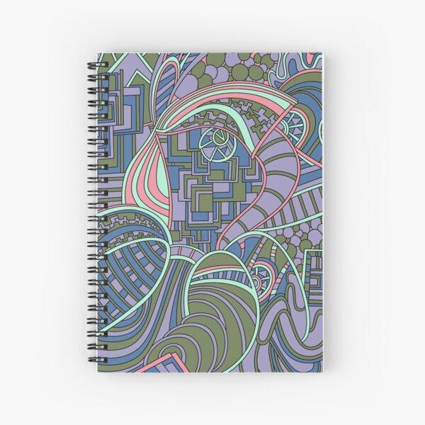Wandering Abstract Line Art 48: Green Spiral Notebook