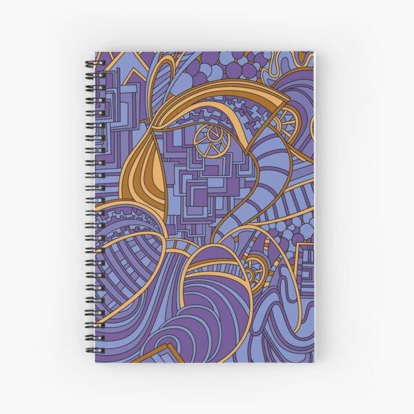 Wandering Abstract Line Art 48: Purple Spiral Notebook