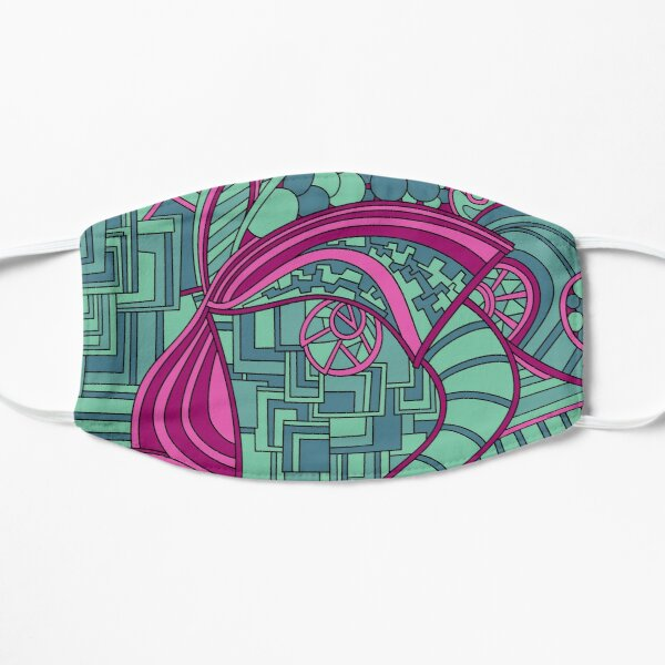 Wandering Abstract Line Art 48: Magenta Flat Mask